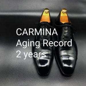 CARMINA(カルミナ)ストレートチップ エイジングレコード